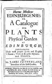 Hortus medicus Edinburgensis
