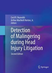 Detection of Malingering during Head Injury Litigation: Edition 2