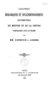 Caractères myologiques et splanchnologiques différentiels du mouton et de la chèvre: comparaison avec le chabin
