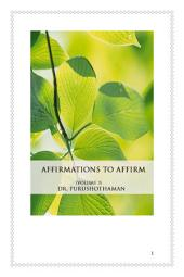 Affirmations To Affirm (Volume 3)