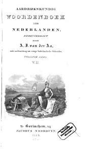 Aardrijkskundig Woordenboek der Nederlanden: W - Y, Volume 12