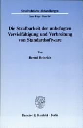 Die Strafbarkeit der unbefugten Vervielfältigung und Verbreitung von Standardsoftware