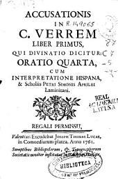 Accusationis in C. Verrem Liber primus, qui divinatio dicitur: Oratio quarta