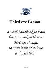 Open Your Third Eye Lesson: a little handbook for spiritual work