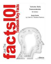 e-Study Guide for: Calculus: Early Transcendentals by Howard Anton, ISBN 9780470418147: Edition 9