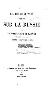Quatre chapitres inédits sur la Russie