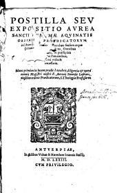 Postilla seu expositio aurea Sancti Thomae Aquinatis Ordinis Praedicatorum in Librum Geneseos