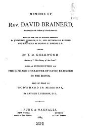 Memoirs of Rev. David Brainerd: Missionary to the Indians of North America