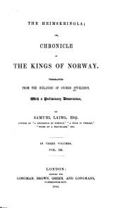 The Heimskringla: Volume 3