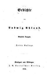 Gedichte ... Wohlfeile Ausgabe. Dritte Auflage