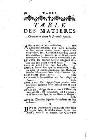 Anecdotes de médecine, ou Choix des faits singuliers qui ont rapport à l'anatomie, la pharmacie, l'histoire naturelle, &c. auxquels on a joint des anecdotes concernant le médecins les plus célebres: Volume2
