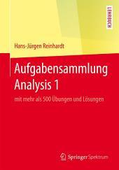 Aufgabensammlung Analysis 1: mit mehr als 500 Übungen und Lösungen