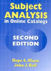 Subject Analysis in Online Catalogs