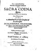 De sacra coena