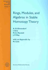 Rings, Modules, and Algebras in Stable Homotopy Theory