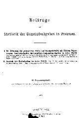 Zeitschrift des Königlich Preussischen Statistischen Landesamtes: Ergänzungsheft