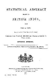 East India (Statistical Abstract).: Statistical Abstract Relating to British India, Issue 7