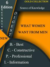 What women want from men?