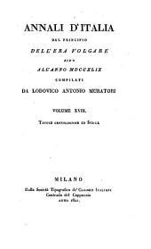 Annali d'Italia dal principio dell'era volgare sino all'anno MDCCXLIX: Tavole cronologiche ed indice, Volume 18