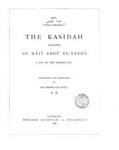 The Kasîdah of Hâjî Abdû El-Yezdî: A Lay of the Higher Law