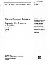 China's Economic Reforms: Pointers for Other Economies in Transition?