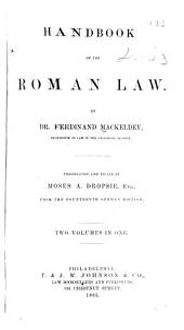 Handbook of the Roman Law: Volumes 1-2