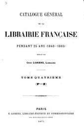 Catalogue général de la librairie française: 1922-1925. Tables des matières