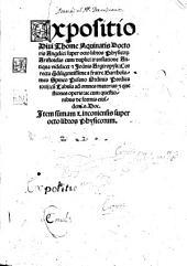 Sancti Thomae Aquinatis Expositio super octo libros Physicorum Aristotelis