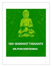 1001 BUDDHIST THOUGHTS