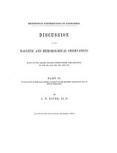 Discussion of the Magnetic and Meteorological Observations: Made at the Girard College Observatory, Philadelphia in 1840. 1841, 1842, 1843, 1844, and 1845. Investigation of the solar diurnal variation in the magnetic declination and its annual inequality