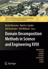 Domain Decomposition Methods in Science and Engineering XVIII