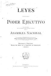Leyes emitidas por el Poder Ejecutivo: con inclusión de las modificaciones hechas en ellas por la Asamblea Nacional