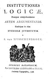 Petri v. Musschenbroek Institutiones logicae