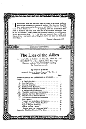 """The Lies of the Allies: A Remarkable Collection of Facts, Proofs and Documents of how England, the Anglo-maniacs, and the """"big Dailies"""" Humbug the American People"""