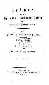 Früchte aus den sogenannt-goldenen Zeiten des achtzehnten Jahrhunderts: (1801-1803)