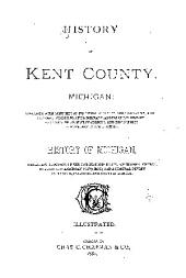 HISTORY OF KENT COUNTY, MICHIGAN