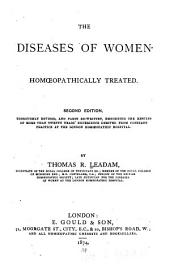 The Diseases of Women: Homoeopathically Treated