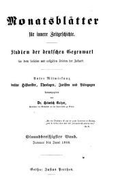Protestantische Monatsblätter für innere Zeitgeschichte, herausg. von H. Gelzer. [continued as] Monatsblätter für innere Zeitgeschichte