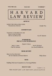 Harvard Law Review: Volume 126, Number 7 - May 2013