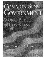 Common Sense Government: Works Better and Costs Less: National Performance Review (3rd Report)