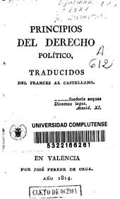 Principios de derecho político: traducidos del francés al castellano