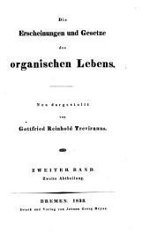 Die Erscheinungen und Gesetze des organischen Lebens: Band 2,Ausgabe 2