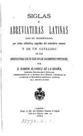 Siglas y abreviaturas latinas con su significado