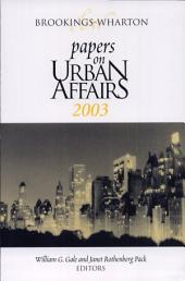 Papers on Urban Affairs, 2003