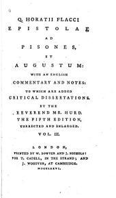 Q. Horatii Flacci Epistolae Ad Pisones, Et Augustum