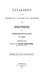 Catalogus van de boeken op 1 Jan. 1877 aanwezig in de bibliotheek