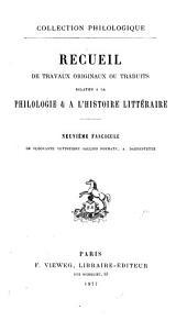 De Floovante, vestustiore gallico poemate: et de Merovingo cyclo