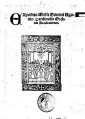 Expositio misse domini Ugonis cardinalis ordinis predicatorum