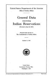 General data concerning Indian reservations