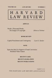 Harvard Law Review: Volume 125, Number 3 - January 2012